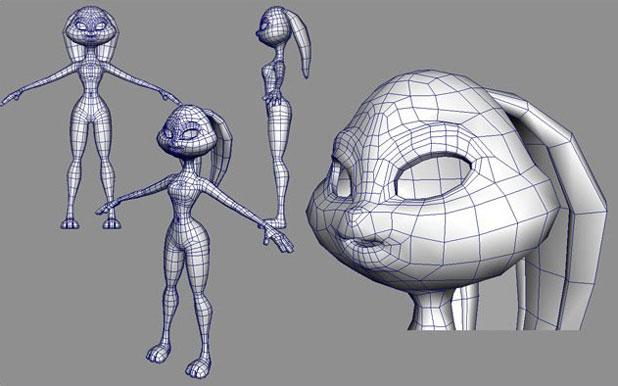 maya 可爱卡通人物兔cg作品教程